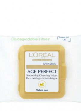 L'OREAL AGE PERFECT SMOOTHING CLEANSING WIPES