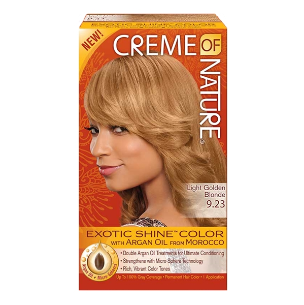Creme Of Nature Hair Color LIGHT GOLDEN BLONDE 9.23