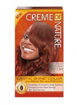 Creme Of Nature Exotic Shine Hair Color, Bronze Copper 7.64