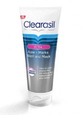 Clearasil Ultra Acne+Marks Wash And Mask