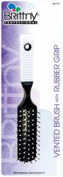 Brittny Professional Vented Brush – Rubber Grip