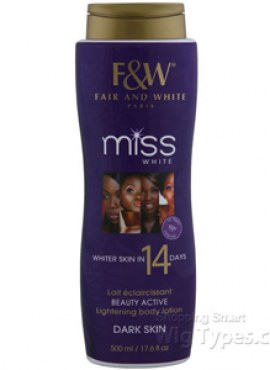 FAIR & WHITE MISS WHITE LIGHTENING BODY LOTION MEDUIM SKIN