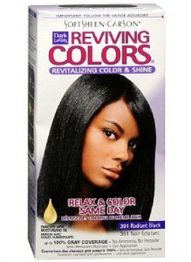 Dark and Lovely Relax & Color Same Day Semi-Permanent Haircolor, 391 Radiant Black