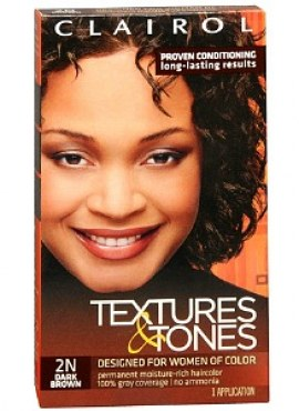 Clairol Textures & Tones Hair Color, Dark Brown 2N