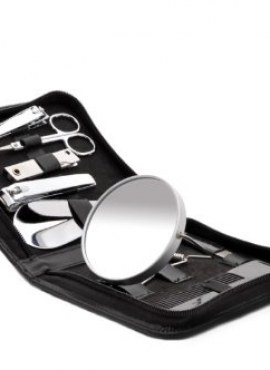 MENS MANICURE SET-BLACK LEATHER