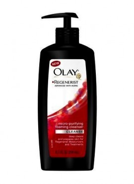 OLAY REGENERIST FOAMING CLEANS.
