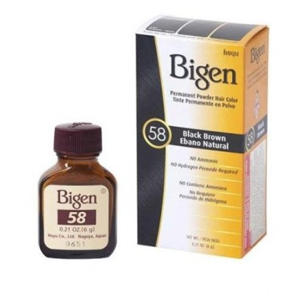 BIGEN PERMANENT HAIR COLOR BLACK BROWN