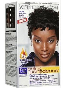 Dark & Lovely Color Confidence Permanent Haircolor, 404-Natural Black