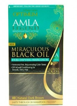 Optimum Care Amla Legend Miraculous Oil Dull Defying Hair Color, Natural Dark Brown