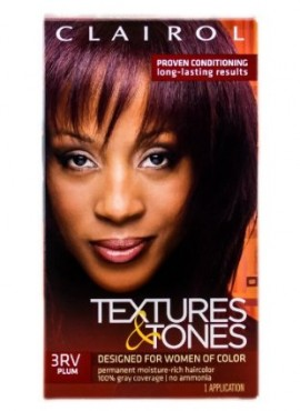 Clairol Textures & Tones Hair Color – Designed For Women of Color – 3RV – Plum