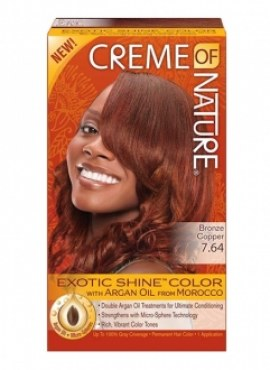 Creme of Nature Hair Color BRONZE COPPER 7.64