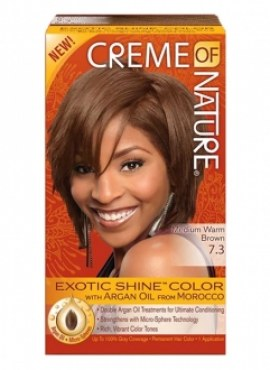 Creme of Nature Hair Color MEDIUM WARM BROWN 7.3