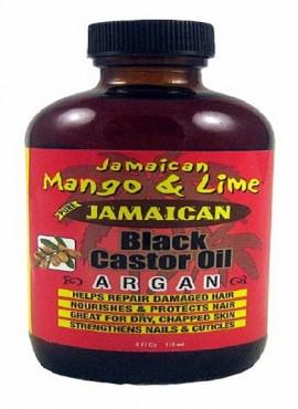 Jamaican Mango and Lime Black Castor-Argan Oil 4 OZ
