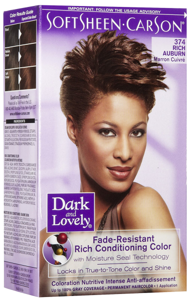 Dark & Lovely Fade-Resistant Rich Conditioning Color 374 Rich Auburn