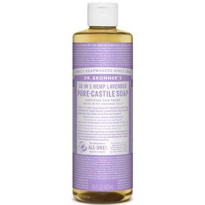 Dr Bronner's Organic 18-IN-1 Hemp Lavender Castile Liquid Soap 16oz