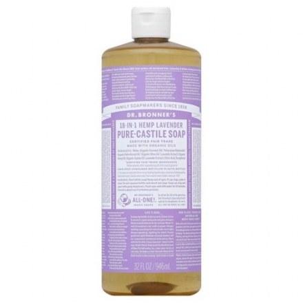 Dr Bronner's Organic 18-IN-1 Hemp Lavender Castile Liquid Soap