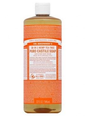 Dr Bronner's Organic 18-in-1 Hemp Tea Tree Castile Liquid Soap