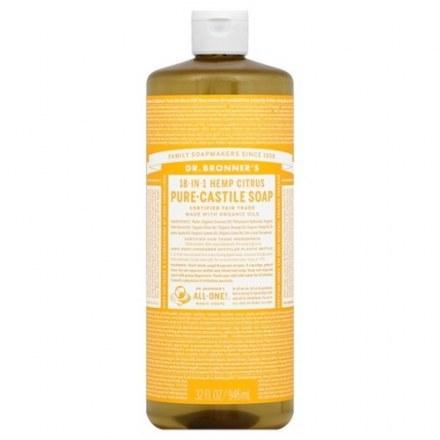 Dr. Bronner's Organic 18-In-1 Hemp Citrus Castile Liquid Soap