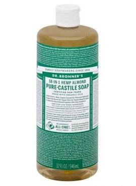 Dr Bronner's 18-in-1 Hemp Almond Castile Liquid Soap