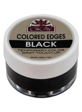 Okay Colored Edges Temporary Color Gray Touch Up – Black