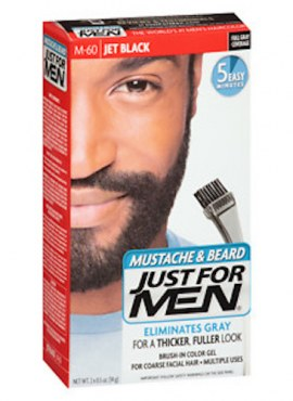 Mustache, Beard & Sideburns Hair Color Gel – Jet Black