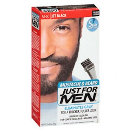 Mustache, Beard & Sideburns Hair Color Gel – Jet Black