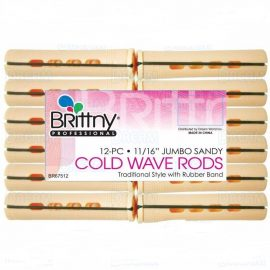 Brittny Cold Wave Rods Hair Rollers – 12pcs 11/16 Jumbo