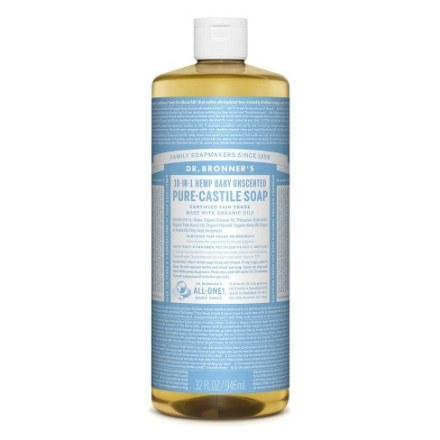 Dr. Bronners Hemp Baby Unscented Soap