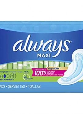 Always Maxi Pads 32 Long Super