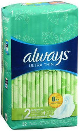 Always Ultra Thin 32 Long Super