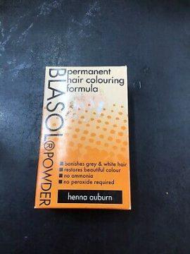 Blasol Powder Permanent Hair Colouring Formula Henna Auburn