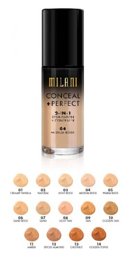 Glam Gals Conceal+Perfect 2 in 1 Matte Foundation + Concealer Tan 04