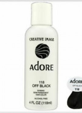 Adore Shinning Semi-Permanent Hair Color 118 Off Black