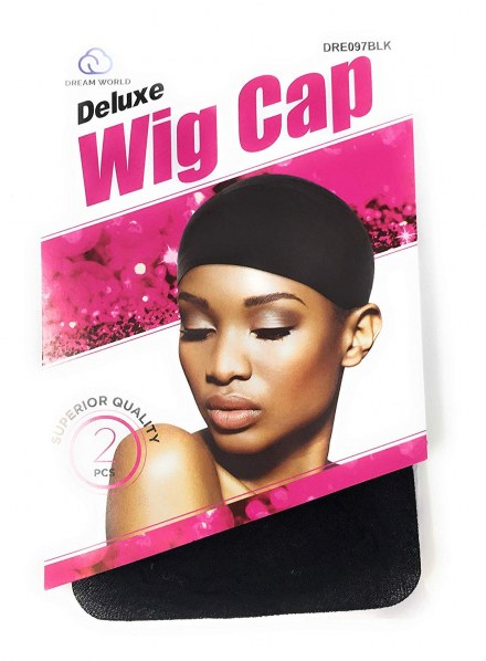 Dream Deluxe Wig Cap Black 2pcs